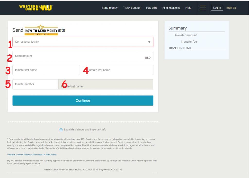 western union send money form pdf